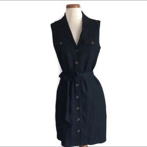 BANANA REPUBLIC Ladies Black Linen Dress Size 4